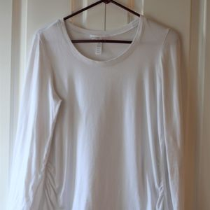 White Maternity Long Sleeve Shirt